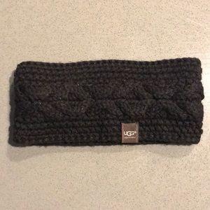 Ugg black ear warmer headband